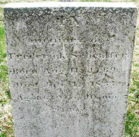 SCHEAFFER, FREDERICK - Montgomery County, Ohio | FREDERICK SCHEAFFER - Ohio Gravestone Photos