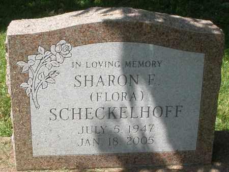 FLORA SCHECKELHOFF, SHARON F. - Montgomery County, Ohio | SHARON F. FLORA SCHECKELHOFF - Ohio Gravestone Photos