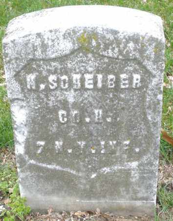 SCHEIBER, W. - Montgomery County, Ohio   W. SCHEIBER - Ohio Gravestone Photos