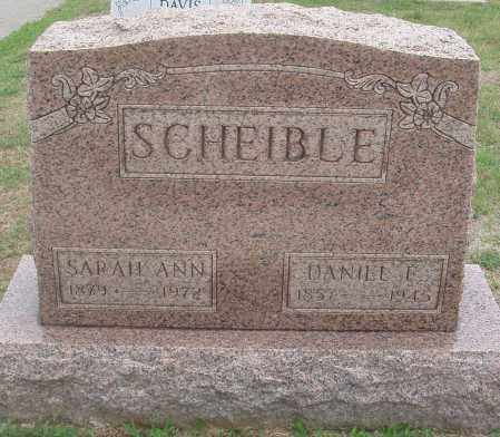 WEIDLE SCHEIBLE, SARAH ANN - Montgomery County, Ohio | SARAH ANN WEIDLE SCHEIBLE - Ohio Gravestone Photos