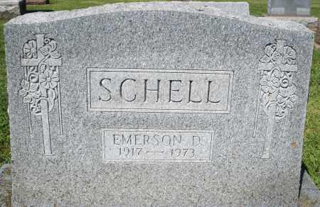SCHELL, EMERSON D. - Montgomery County, Ohio | EMERSON D. SCHELL - Ohio Gravestone Photos