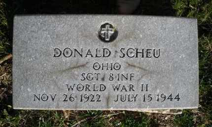 SCHEU, DONALD - Montgomery County, Ohio   DONALD SCHEU - Ohio Gravestone Photos