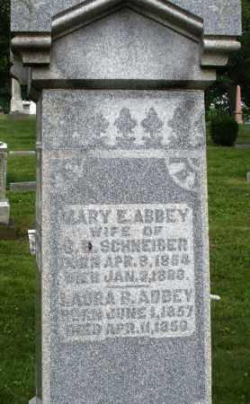 SCHNEIBER, MARY E. - Montgomery County, Ohio | MARY E. SCHNEIBER - Ohio Gravestone Photos