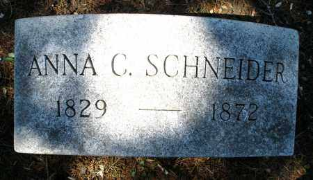 SCHNEIDER, ANNA C. - Montgomery County, Ohio | ANNA C. SCHNEIDER - Ohio Gravestone Photos
