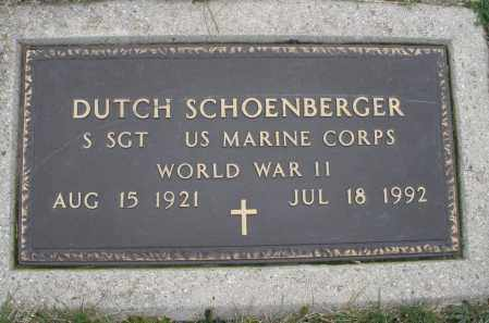 SCHOENBERGER, DUTCH - Montgomery County, Ohio | DUTCH SCHOENBERGER - Ohio Gravestone Photos
