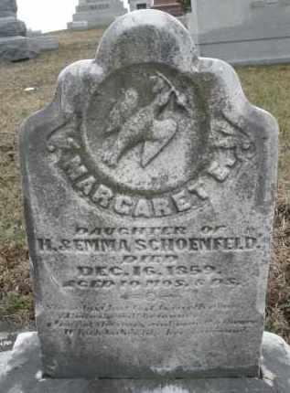 SCHOENFELD, MARGARET E. - Montgomery County, Ohio | MARGARET E. SCHOENFELD - Ohio Gravestone Photos