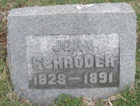 SCHRODER, JOHN - Montgomery County, Ohio   JOHN SCHRODER - Ohio Gravestone Photos