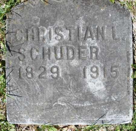 SCHUDER, CHRISTIAN L. - Montgomery County, Ohio | CHRISTIAN L. SCHUDER - Ohio Gravestone Photos