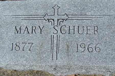 SCHUER, MARY - Montgomery County, Ohio | MARY SCHUER - Ohio Gravestone Photos