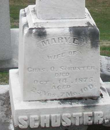 SCHUSTER, MARY E. - Montgomery County, Ohio | MARY E. SCHUSTER - Ohio Gravestone Photos