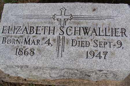 SCHWALLIER, ELIZABETH - Montgomery County, Ohio | ELIZABETH SCHWALLIER - Ohio Gravestone Photos