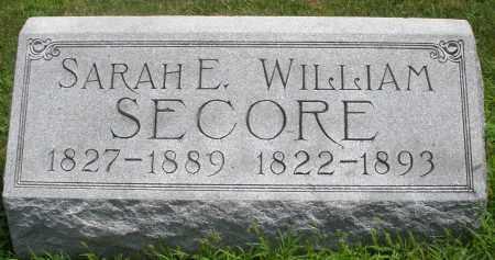 SECORE, SARAH E. - Montgomery County, Ohio | SARAH E. SECORE - Ohio Gravestone Photos