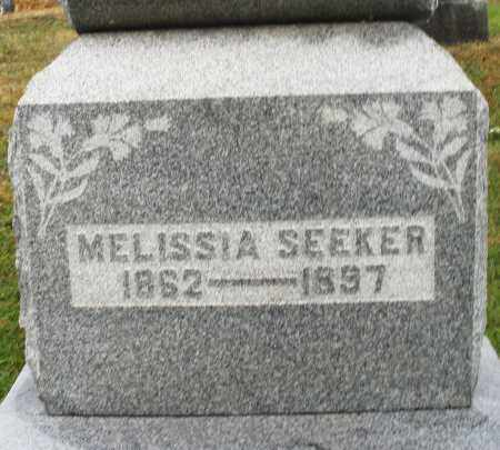 SEEKER, MELISSIA - Montgomery County, Ohio | MELISSIA SEEKER - Ohio Gravestone Photos
