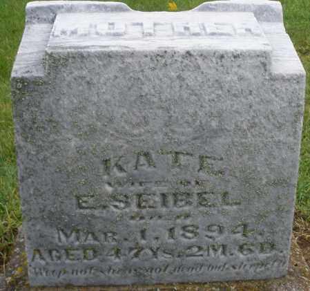 SEIBEL, KATE - Montgomery County, Ohio | KATE SEIBEL - Ohio Gravestone Photos
