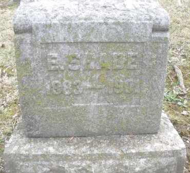 SHADE, E. - Montgomery County, Ohio   E. SHADE - Ohio Gravestone Photos
