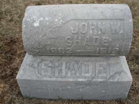 SHADE, JOHN W. - Montgomery County, Ohio   JOHN W. SHADE - Ohio Gravestone Photos