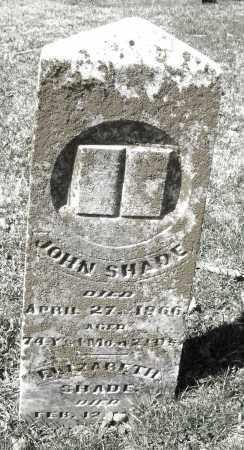 SHADE, JOHN - Montgomery County, Ohio | JOHN SHADE - Ohio Gravestone Photos