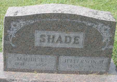 SHADE, JEFFERSON M. - Montgomery County, Ohio | JEFFERSON M. SHADE - Ohio Gravestone Photos