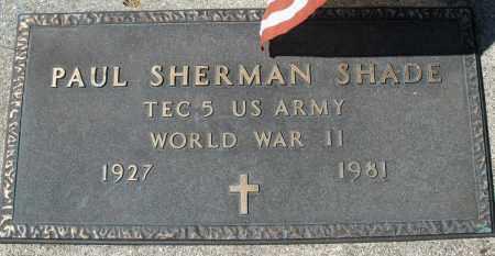 SHADE, PAUL SHERMAN - Montgomery County, Ohio | PAUL SHERMAN SHADE - Ohio Gravestone Photos