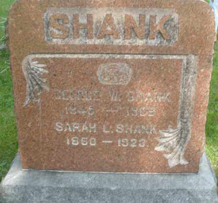 SHANK, GEORGE W. - Montgomery County, Ohio | GEORGE W. SHANK - Ohio Gravestone Photos