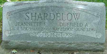 SHARDELOW, JEANNETTE ELIZABETH - Montgomery County, Ohio | JEANNETTE ELIZABETH SHARDELOW - Ohio Gravestone Photos