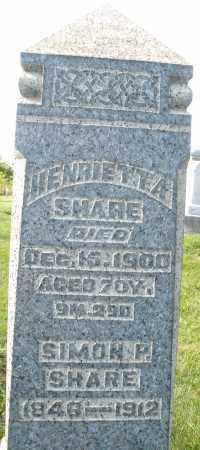 SHARE, HENRIETTA - Montgomery County, Ohio | HENRIETTA SHARE - Ohio Gravestone Photos