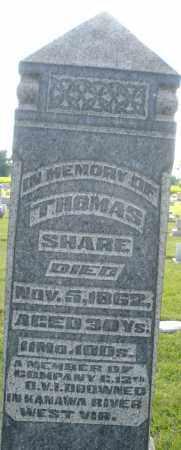 SHARE, THOMAS - Montgomery County, Ohio | THOMAS SHARE - Ohio Gravestone Photos