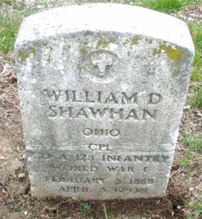 SHAWHAN, WILLIAM D. - Montgomery County, Ohio | WILLIAM D. SHAWHAN - Ohio Gravestone Photos