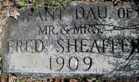 SHEAFFER, INFANT DAUGHTER - Montgomery County, Ohio | INFANT DAUGHTER SHEAFFER - Ohio Gravestone Photos