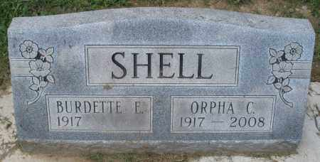 SHELL, BURDETTE E. - Montgomery County, Ohio | BURDETTE E. SHELL - Ohio Gravestone Photos