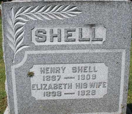 SHELL, ELIZABETH - Montgomery County, Ohio   ELIZABETH SHELL - Ohio Gravestone Photos