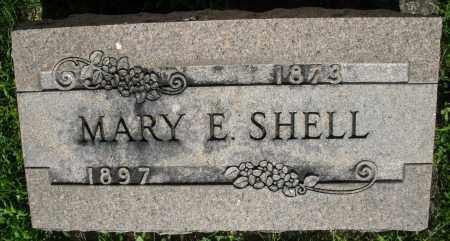 SHELL, MARY E. - Montgomery County, Ohio | MARY E. SHELL - Ohio Gravestone Photos