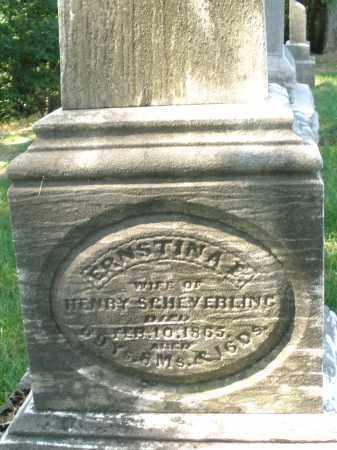 SHEVERLING, ERNESTINA - Montgomery County, Ohio   ERNESTINA SHEVERLING - Ohio Gravestone Photos