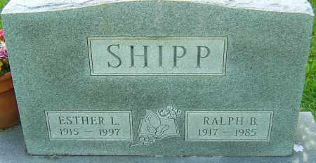 SHIPP, ESTHER L - Montgomery County, Ohio | ESTHER L SHIPP - Ohio Gravestone Photos