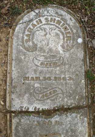 SHRINER, SARAH - Montgomery County, Ohio | SARAH SHRINER - Ohio Gravestone Photos