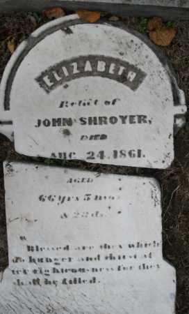 SHROYER, ELIZABETH - Montgomery County, Ohio | ELIZABETH SHROYER - Ohio Gravestone Photos
