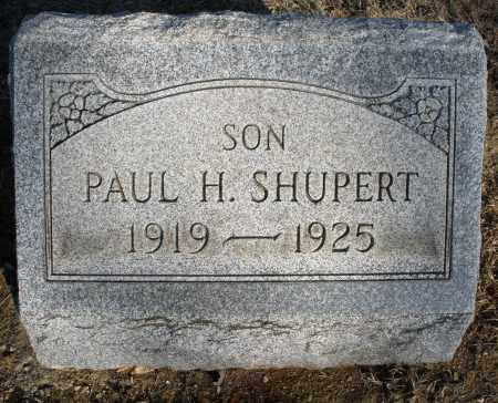 SHUPERT, PAUL H. - Montgomery County, Ohio | PAUL H. SHUPERT - Ohio Gravestone Photos