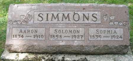 SIMMONS, SOPHIA - Montgomery County, Ohio   SOPHIA SIMMONS - Ohio Gravestone Photos