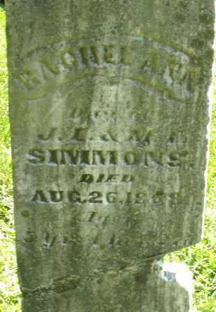 SIMMONS, RACHEL ANN - Montgomery County, Ohio | RACHEL ANN SIMMONS - Ohio Gravestone Photos