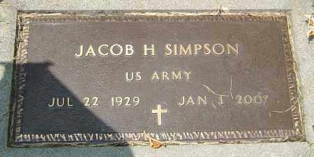 SIMPSON, JACOB H - Montgomery County, Ohio | JACOB H SIMPSON - Ohio Gravestone Photos