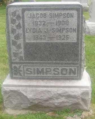 SIMPSON, LYDIA J. - Montgomery County, Ohio   LYDIA J. SIMPSON - Ohio Gravestone Photos