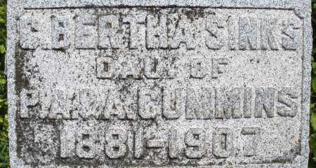 CUMMINS SINKS, C. BERTHA - Montgomery County, Ohio | C. BERTHA CUMMINS SINKS - Ohio Gravestone Photos