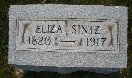 SINTZ, ELIZA - Montgomery County, Ohio | ELIZA SINTZ - Ohio Gravestone Photos