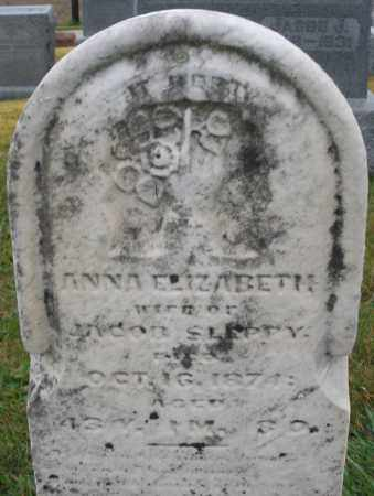 SLEPPY, ANNA ELIZABETH - Montgomery County, Ohio | ANNA ELIZABETH SLEPPY - Ohio Gravestone Photos