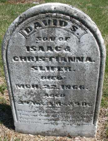 SLIFER, DAVID S. - Montgomery County, Ohio | DAVID S. SLIFER - Ohio Gravestone Photos