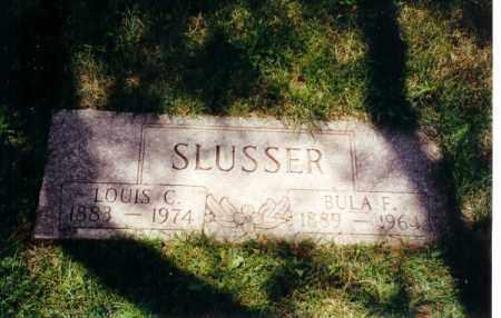 SLUSSER, BULA - Montgomery County, Ohio   BULA SLUSSER - Ohio Gravestone Photos