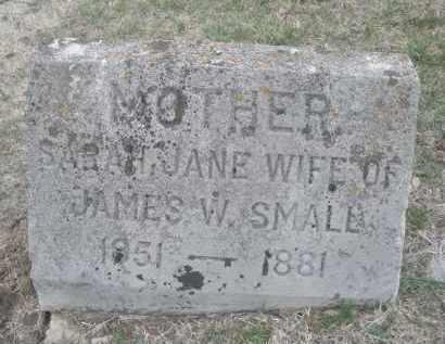 SMALL, SARAH JANE - Montgomery County, Ohio | SARAH JANE SMALL - Ohio Gravestone Photos