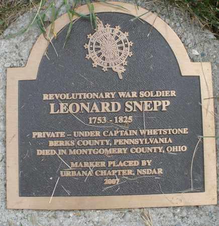 SNEPP, LEONARD - Montgomery County, Ohio | LEONARD SNEPP - Ohio Gravestone Photos