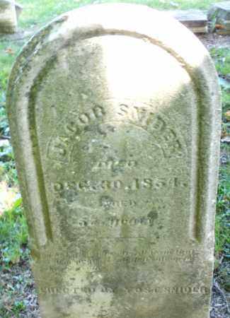 SNIDER, JACOB - Montgomery County, Ohio | JACOB SNIDER - Ohio Gravestone Photos
