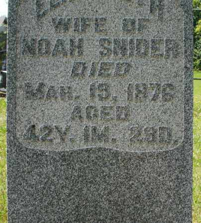 SNIDER, NOAH - Montgomery County, Ohio | NOAH SNIDER - Ohio Gravestone Photos